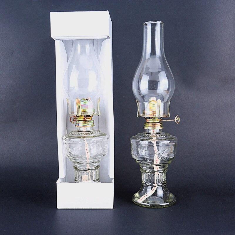 Voorverkoop 32 cm Glas Kerosine Lantaarns Olie Lamp Glas Klassieke Retro Familie Decoratieve Verlichting Hoge Capaciteit Hoge Kwaliteit