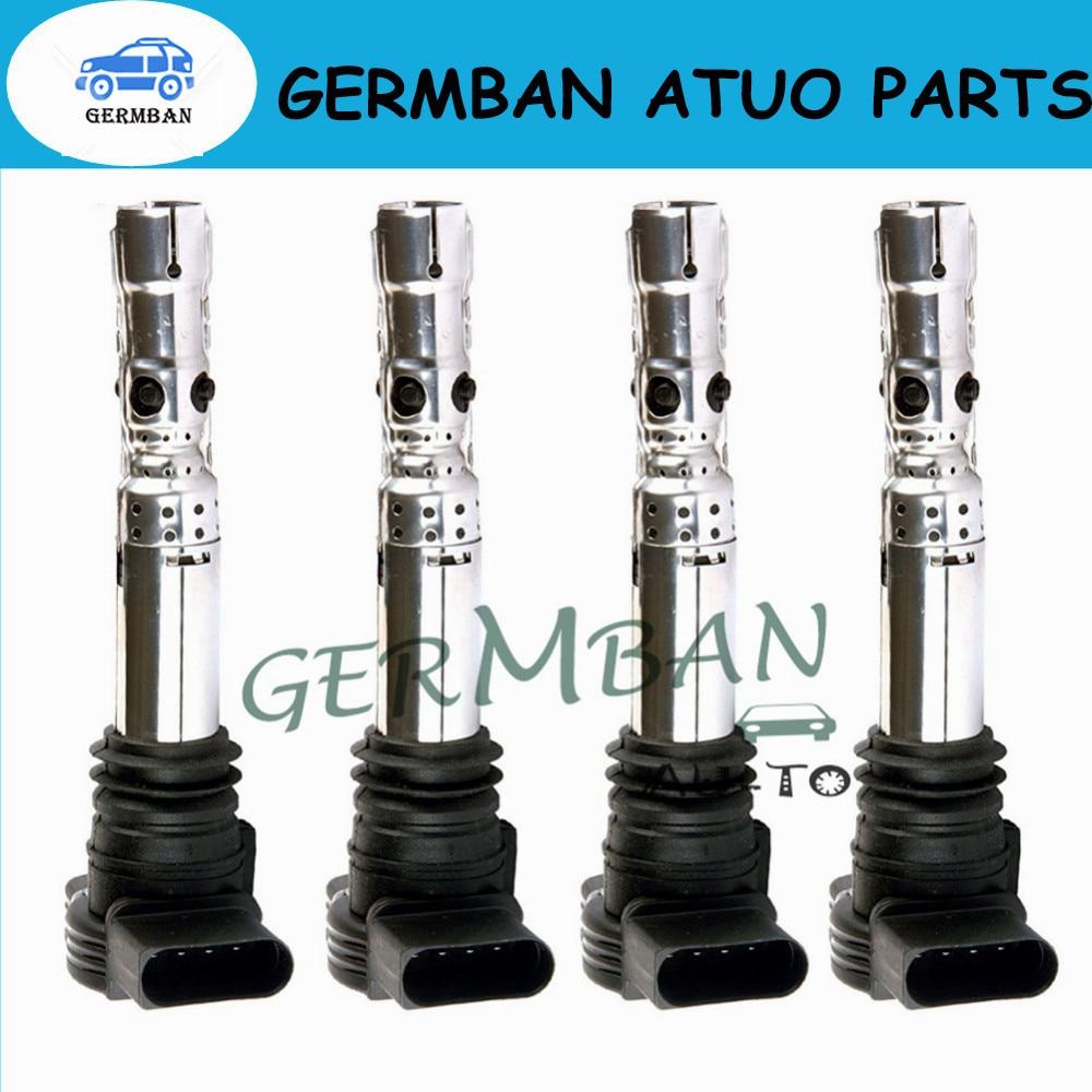 Ensembles de 4 bobines d'allumage flambant neuves UF411 UF580 E594D 5C1391 pour Audi Volkswagen C1394 UF référence # 06A905115D 06A905115 06B905115