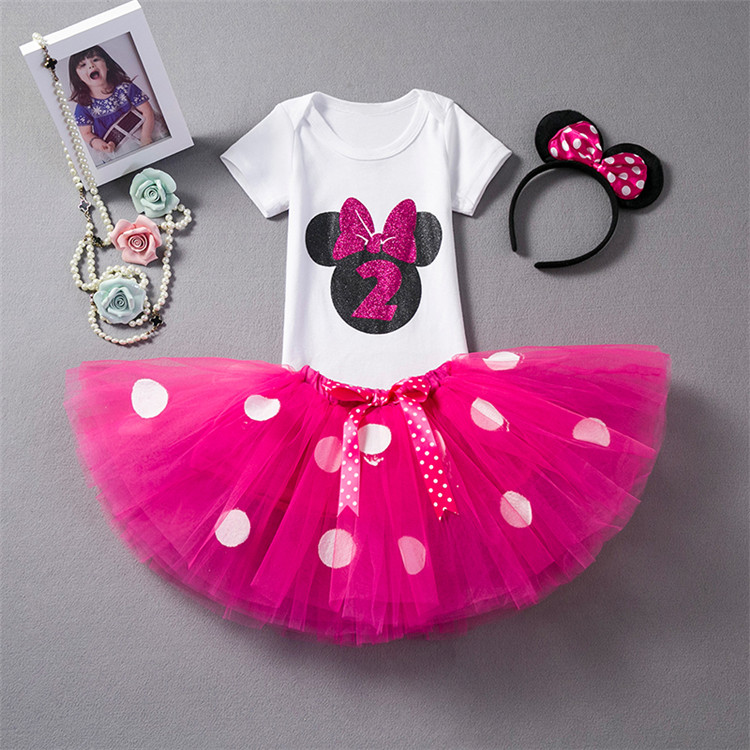 a5397fa843e18 US $7.0 18% OFF|1 Year Birthday Dress Baby Girl Christening Gowns Unicorn  Tutu Dress Outfits 12 Months Toddler First Infant Clothes Headband Set-in  ...