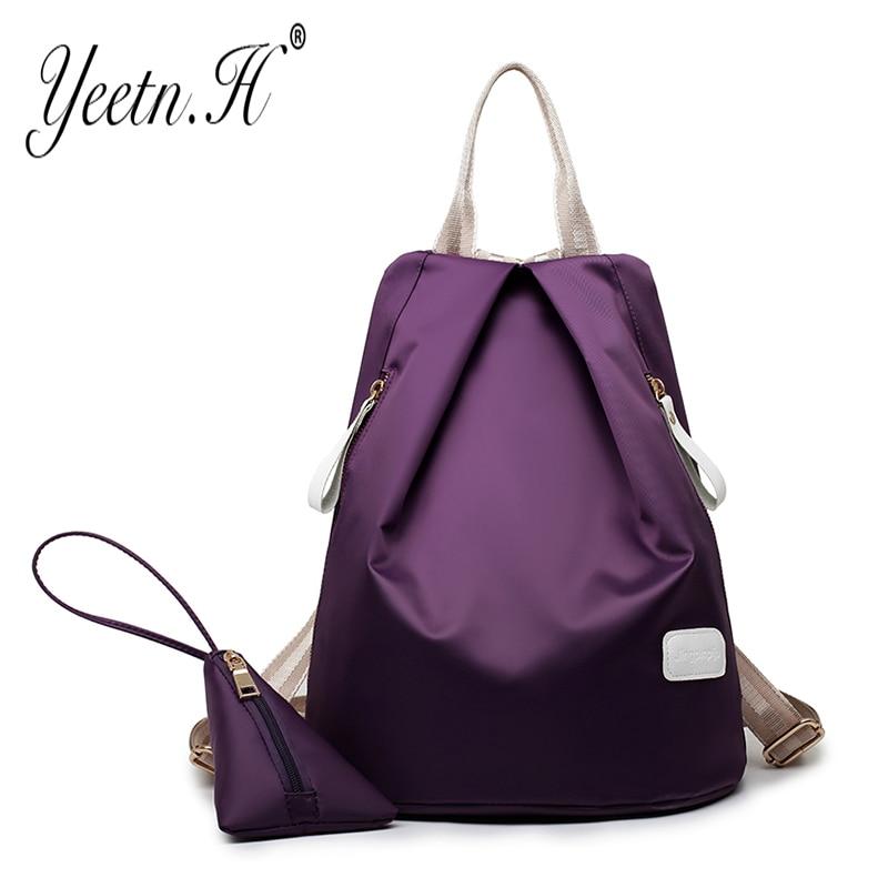 ФОТО Yeetn-H 2017 Fashion Nylon Backpacks  Bag High Quality Backpacks Teenagers  Boy&Girls Shoulder Travel Bag Y1020