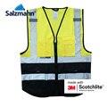 Светоотражающий Жилет Salzmann 3M Scotchlite с несколькими карманами, желтый + синий