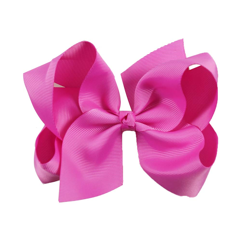 6 solid hair bow