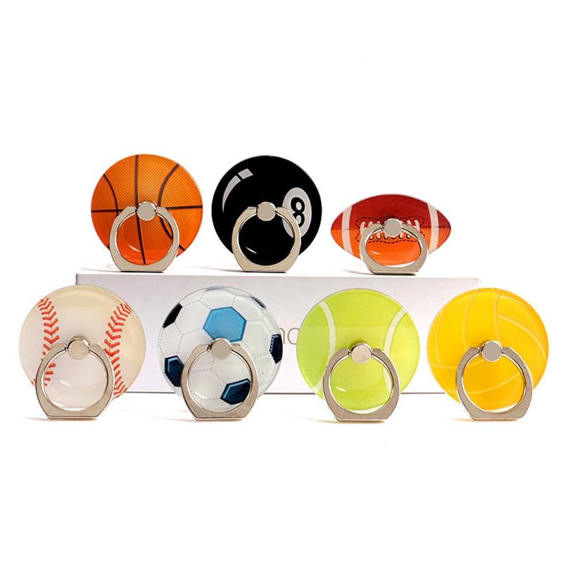 Stylish Sports Football Basketball Mobile Phone Holder Mobile Phone Holder Convenient Multi-color Finger Grip Bracket