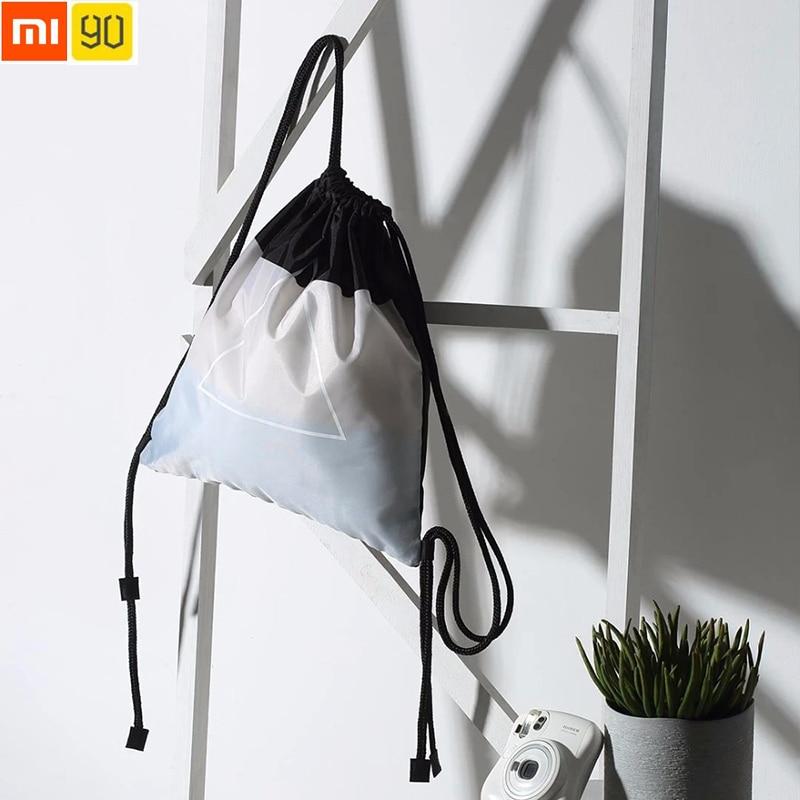 Xiaomi 90 Kordelzug Rucksack Mode Tragbare Tasche Wasserdichte Ziehen Seil Mode Reise Softback 5l Shopping Outdoor Tasche Verkaufsrabatt 50-70% Heimautomatisierungs-sets