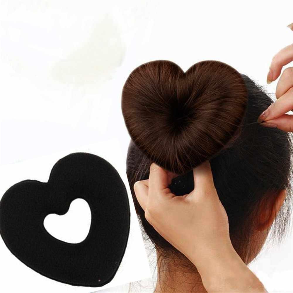 อุปกรณ์เสริมผม elegant Heart Donut Bun Wraps แหวนผม Bud ชุดคลิปผม - Updo Maker HairDressin @ 6
