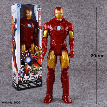 9 stili 30 centimetri Marvel Anime Toy The Avengers Superhero Captain America Wolverine Spiderman Iron Man Thor PVC Action Figure modello