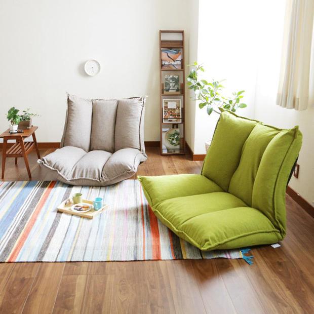Living Room Futon Chair Furniture Japanese Floor Legless Modern Fashion Leisure Fabric Reclining Futon Sofa Chair Bed