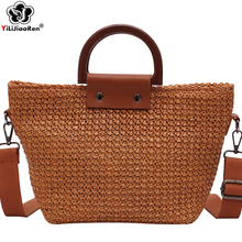Fashion Woven Straw Handbags Women Big Summer Beach Bags Luxury Designer Bohemian Shoulder Bag for Sac
