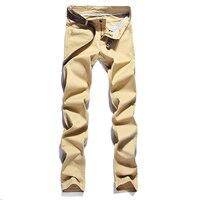 2016 New Design Men Casual Pants Male Cotton Slim Pant Trousers Fashion Business Solid Pencil Pants