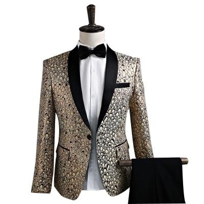 New Star Brand Men Blazer Slim Fit Fancy Blazers Married Korean Men Stage Costumes For Singers Blazers Mens Party Suit - 5