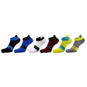 Image 1 - Pure cotton toe socks men mesh breathable five finger sock casual ankle socks new fashion mens five toe sock 6 pairs/lot