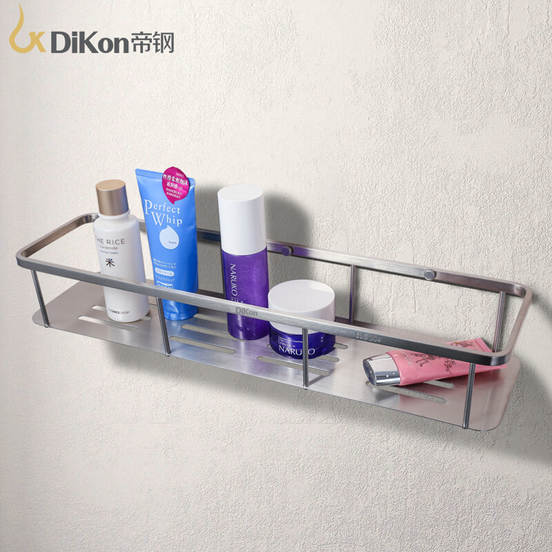 DiKon GL10 Bathroom Shelf Basket 304 Stainless Steel Brushed Surface Bathroom Accessories Large Size Single Tier Basket Shelves 304 stainless steel 280 140 500mm bathroom shelf bathroom products bathroom accessories 29016