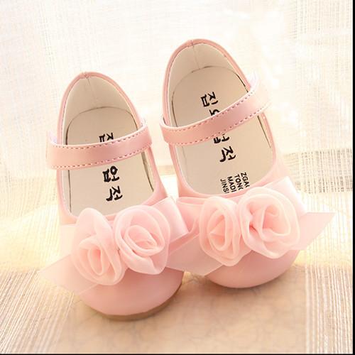 Nuevo 2016 rosa Flores Encantadores Primeros Caminante Zapatos de Bebé Cómodos Niñas de Verano #1815
