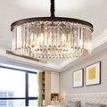 Круглая форма хрустальная люстра освещение люстры подвесные светильники для ресторана хрустальная лампа в американском стиле