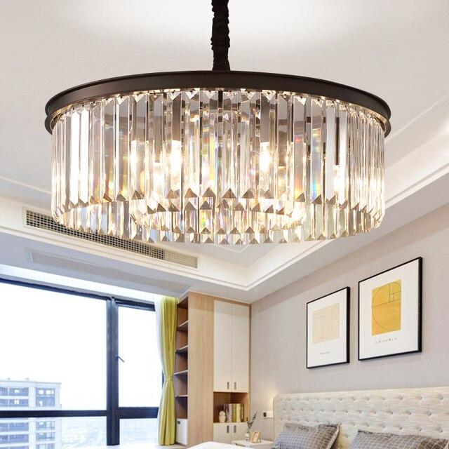 MEEROSEE Round Shape Chandelier Lustres Luminaires Hanging Light for Restaurant Style