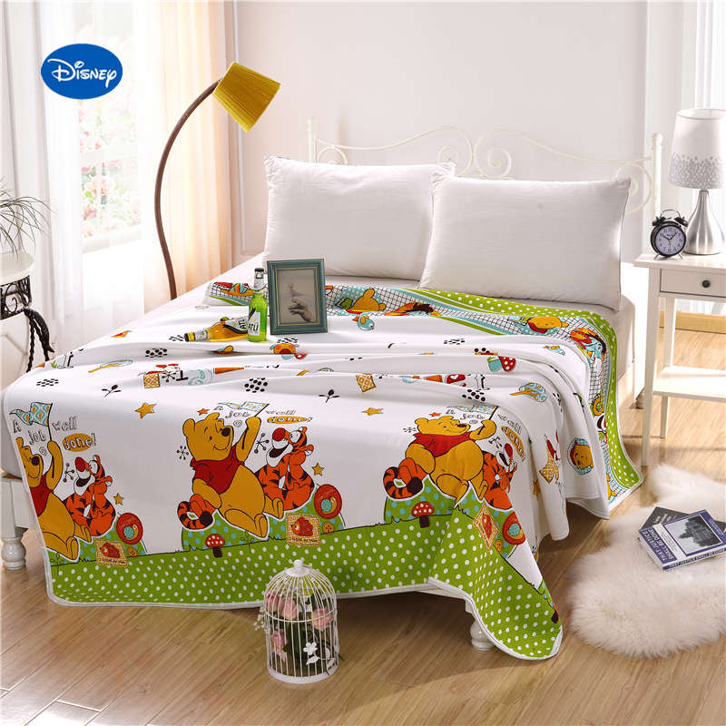 Green Disney Winnie the Pooh Quilts Summer Comforters Bed ...