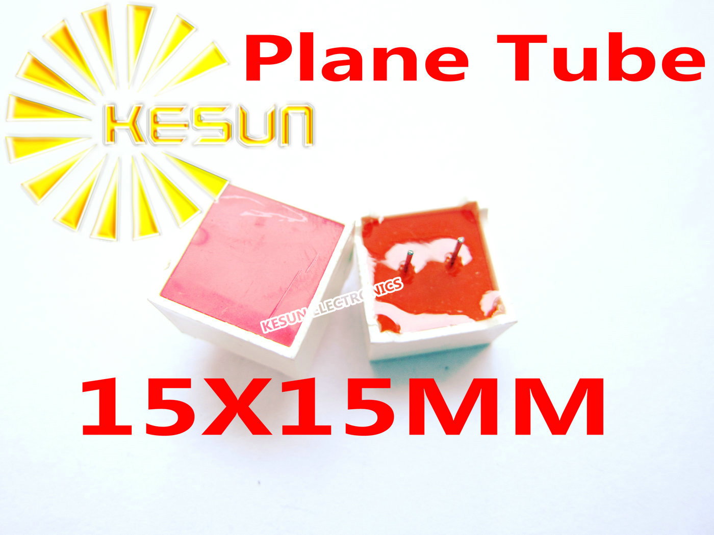 100PCS X 15*15MM Red Plane Tube  Planar Digital Tube LED Display Module 2Pin For Table Game Machine