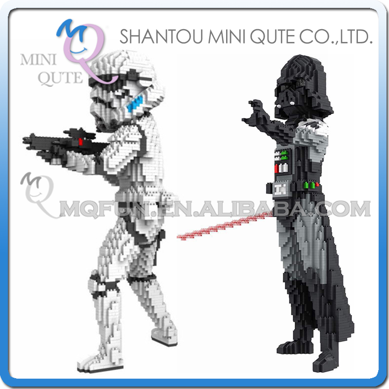 Mini Qute PZX film star wars Stormtrooper dark vador super héros enfants bloc en plastique bloc de construction garçons cadeau éducatif jouet