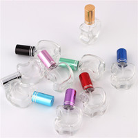 Beauty 9 Colors Stylish 12ml Unique Mini Glass Perfume Bottles With Spray Lovely Apple Style Refillable