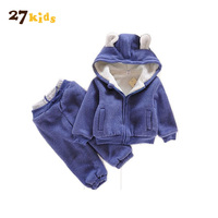 27Kids Baby Clothing Sets Kids Boys Clothes Autumn Girl Sets Long Sleeve Hoody And Pants Suits