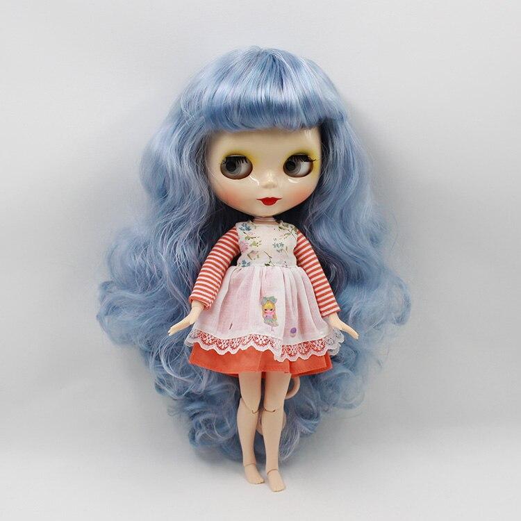 Beaukiss 12 дюйма куклы с Голубой челка длинные волосы Обнаженная Блайт куклы с совместное тела куклы для продажи