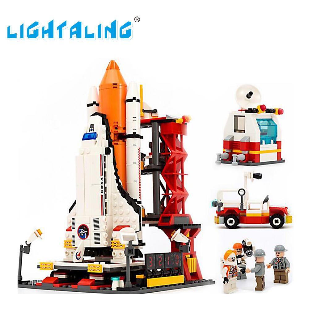 все цены на Lightaling Space Shuttle Launch Center Building Block Assemble Bricks Kids Toys Educational Set онлайн