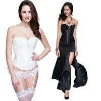 Sexy Lingerie Women S Corset Hot Lady Bridal Satin Corset Black White C8486