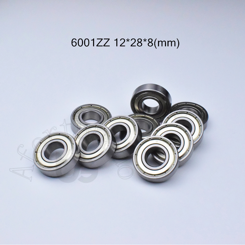 6001ZZ 12*28*8(mm) 1Piece Free Shipping Bearing ABEC-5 Metal Sealing Type Bearings 6001 6001Z 6001ZZ  Chrome Steel Bearing