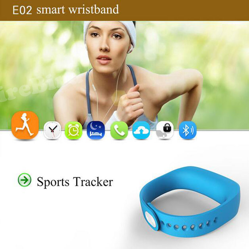 10pcs E02 Sport bluetooth bracelet font b smart b font font b watch b font healthy
