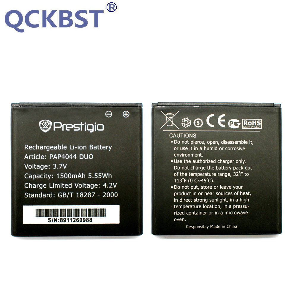 QCKBST 1500mAh High Quality Replacement Batteries For Prestigio MultiPhone PAP4044 DUO PAP 4044 Phone In stock Tracking code