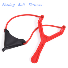 ABS Plastic Fishing Bait Thrower Slingshot Shot Coarse Fishing Baits Catapult Slingshot Fishing Bait Thrower Tackle Accessories