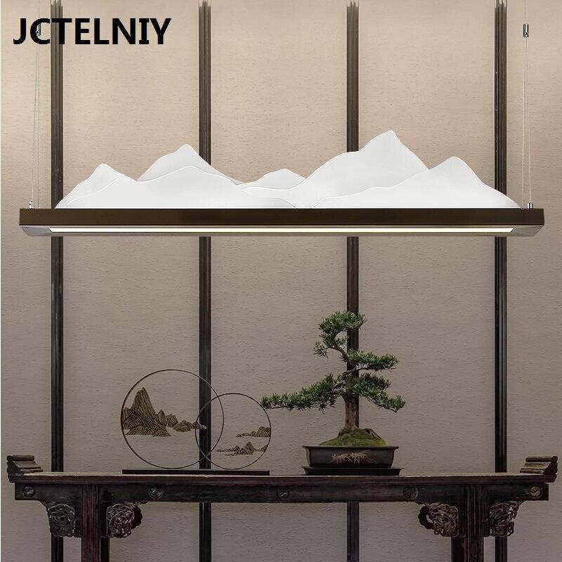 Современные светодиодный акрил люстра творческий пейзаж стиль античное искусство дизайна чайная комната ресторан исследование классичес