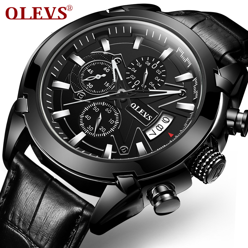 Genuine Automatic Watch OEVS Brand Men Calendar Display Quartz Auto Date Male Watches Water Resistant Sports Diver Wristwatch 60%off fashion silicone bracelet watch olevs men classic design military watches quartz auto date diver sports wristwatch 2017