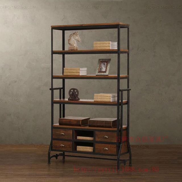 Origin Supply Retro Antique Bookshelf To Do The Old Wrought Iron Shelf Display Rack Creative