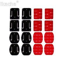 4 шт. набор Плоских изогнутых наклеек 3M на клейкой основе для Gopro Hero 7 6 для экшн камеры Xiaomi Yi для Go pro Аксессуары