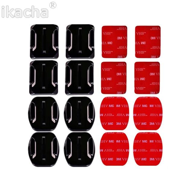 4 pcs Platte Gebogen Mount Set Sticker 3 M Lijm voor Gopro Hero 7 6 voor Xiaomi Yi Action Camera voor Go pro Accessoires
