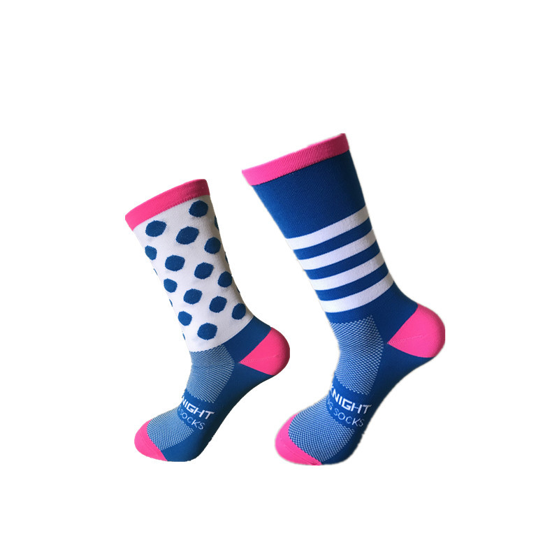 New Professional Brand Sport Outdoor Socks Racing Cycling Striped Dot Socks Breathable Road Bicycle Socks Mountain Bike Socks in Cycling Socks from Sports Entertainment