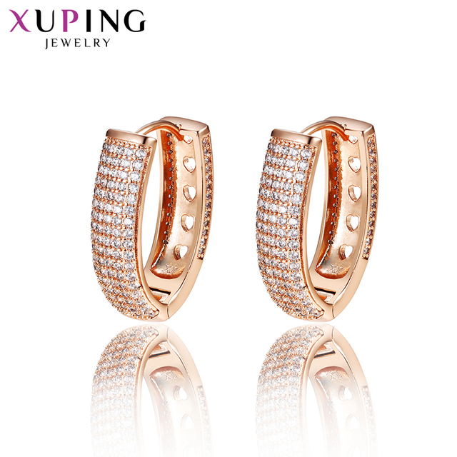 Xuping Jewelry Earrings Hoops Rose Gold Color Plated Fashion Charm Style for Women Gifts for Valentine's Day S86-20131