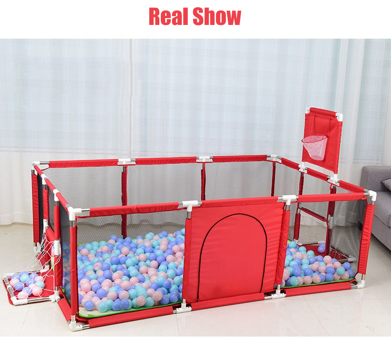 Baby Playpen Made With Stainless Steel Tube For Baby Pool Balls 17
