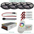 5M 10M 15M 20M DC12V Led RGB 5050 SMD Strip Light Waterproof + 2.4G RGB RF Remote controller + Power adapter + Amplifier Kit