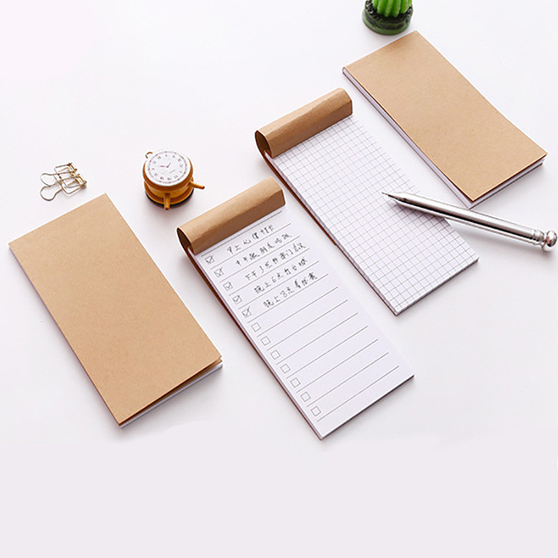 13.8*7cm Small Kraft Paper Notebook Cute Stationery Diary Agenda Pockets Notepad Planner Weekly Book School Supplies Sl1129
