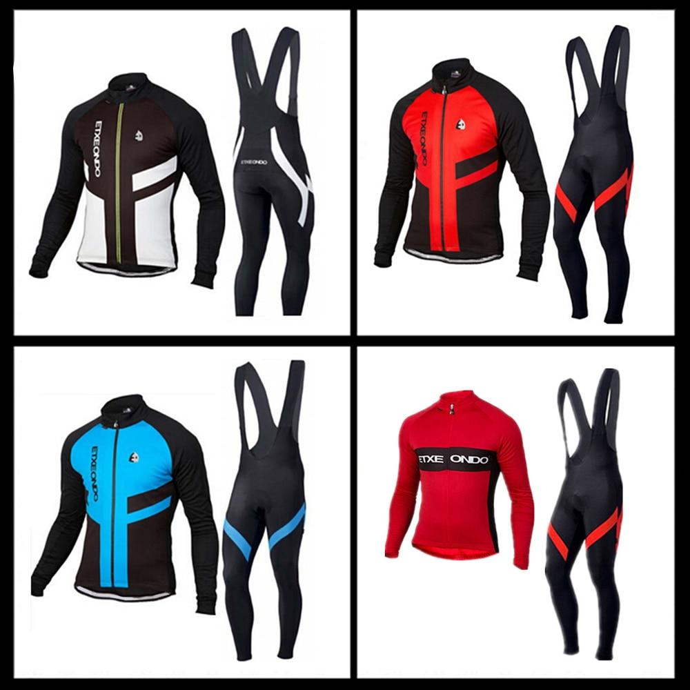 Pro cycling clothing Etxeondo Men Bicycle Suit(jersey+bib/pants) Breathable long sleeve Cycling Set MTB bike Apparel shengqi men s long sleeve cycling jersey pants set green black m