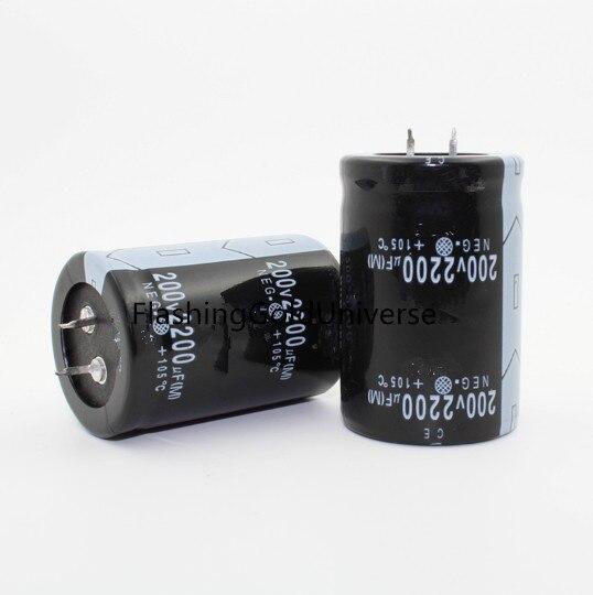 200V 2200UF 2200UF 200V   Electrolytic Capacitor  Volume 35X50mm Best Quality