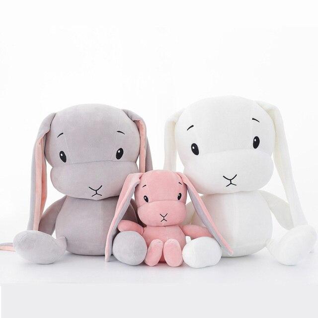 Lindos juguetes de peluche de conejo 30/50 cm conejito de peluche y animales de peluche muñeca bebé acompañan los regalos del juguete del sueño para los niños