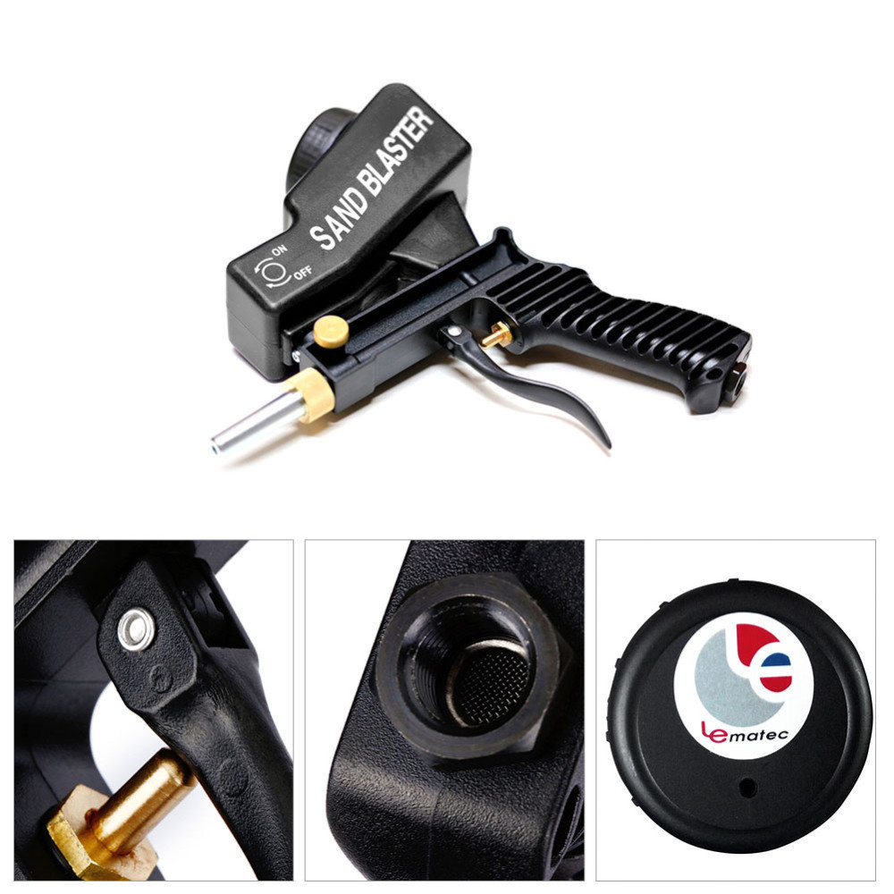 lightweight Spra Gun Easy Using Anti rust Protection Air Spot Sand Blaster Gravity Type Spray Machine