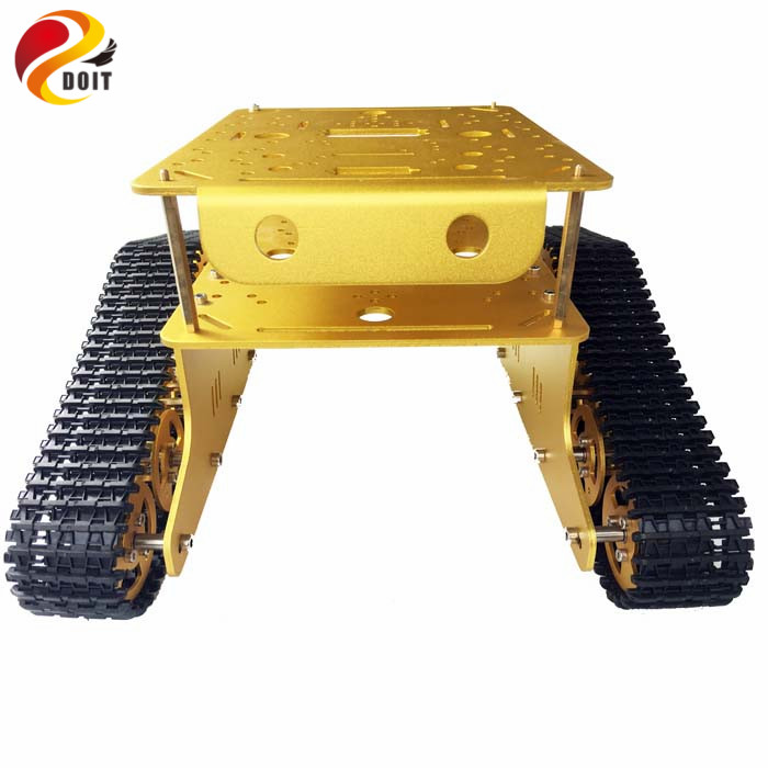 Metal double crawler tank chassis car model arduino wall e