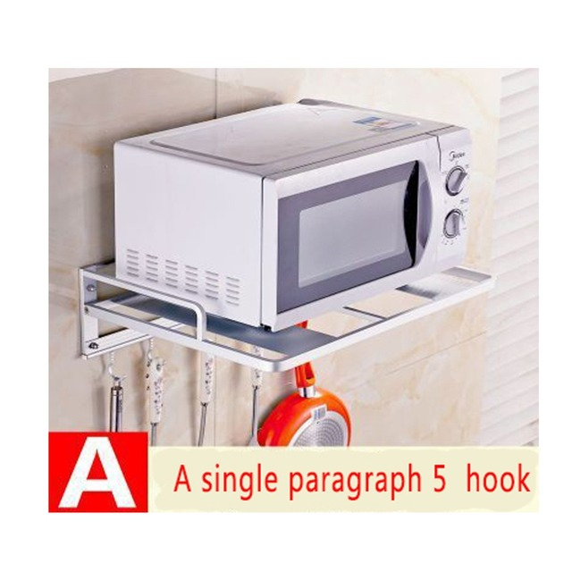 Shengxue Bathroom E Aluminum Racks Microwave Oven Shelf Bracket Wall Double Stand Rack