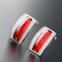 925 pure Tremella nail anti allergy with pomegranate red Tremella zirconium jewelry silver buckle