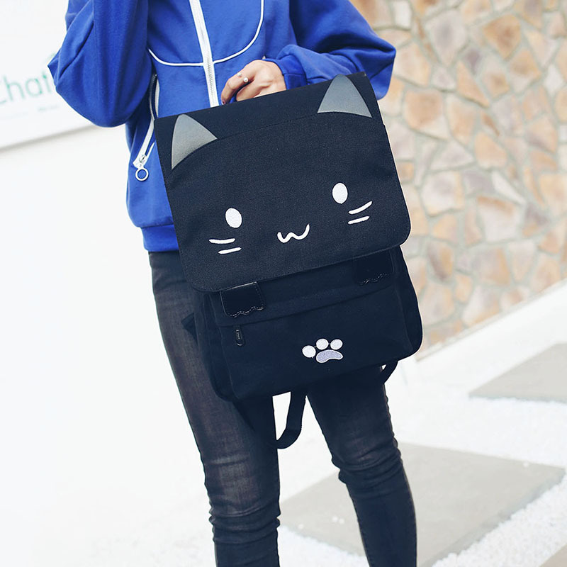 HTB15tW2SXXXXXcKXFXXq6xXFXXXk - Women Cute Cat Backpack Canvas Kawaii Backpacks School Bag for Student Teenagers Lovely Rucksack Cartoon Bookbags Mochilas