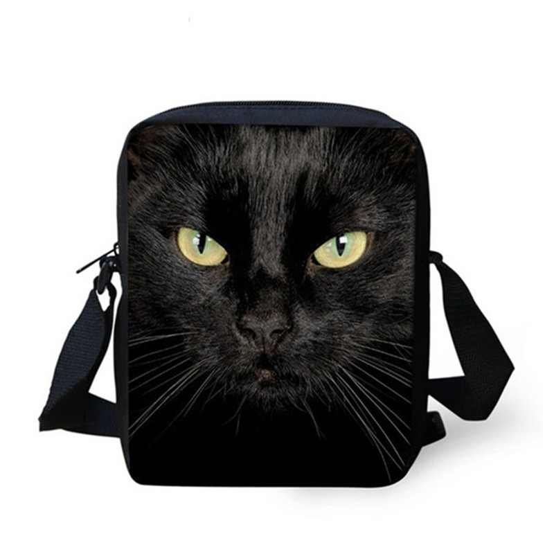bbe1f6403005 FORUDESIGNS Black Cat Messenger Bags for Girls Brand Designer Crossbody Bags  Women Small Kids Shoulder Bag
